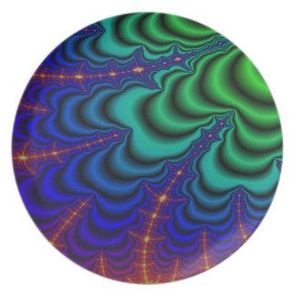 虫食い穴のフラクタルの宇宙の管 プレート