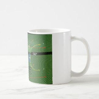 虫食い穴のマグ コーヒーマグカップ
