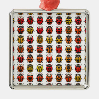 虫、虫、虫-虫パターン メタルオーナメント