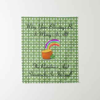 虹およびシャムロック タペストリー
