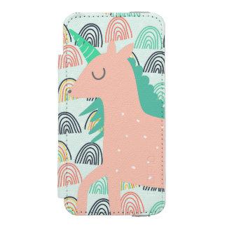 虹およびユニコーン INCIPIO WATSON™ iPhone 5 ウォレット ケース