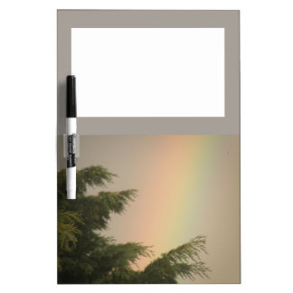虹および木のメモ板 ホワイトボード
