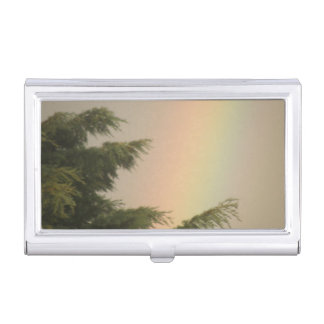 虹および木の名刺入れ 名刺入れ