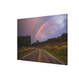 虹および道 キャンバスプリント