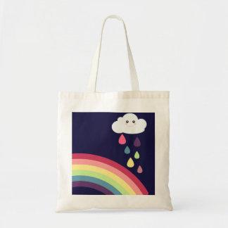 虹および雲のEcoの甘いバッグ トートバッグ