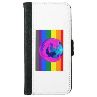 虹およびFirefoxのiPhone札入れかカバー iPhone 6/6s ウォレットケース