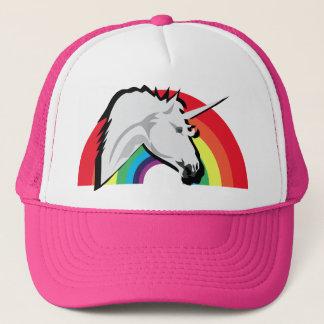 虹が付いているユニコーン力の影! キャップ