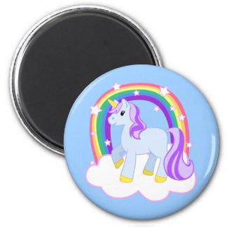 虹とのかわいい魔法のユニコーン(カスタマイズ可能な!) マグネット
