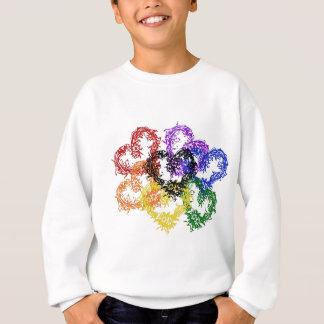 虹によって編まれるハート スウェットシャツ