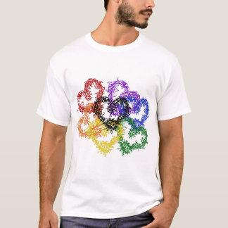 虹によって編まれるハート Tシャツ