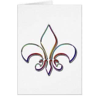 虹によって輪郭を描かれる(紋章の)フラ・ダ・リ カード
