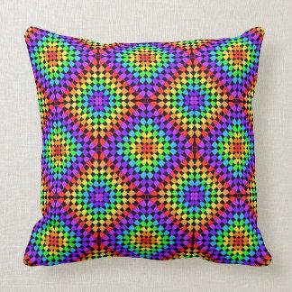 虹のおばあさんの正方形の枕 クッション