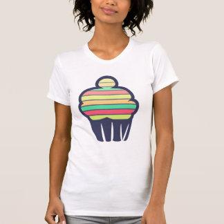 虹のかわいいのカップケーキタンクを向くこと Tシャツ