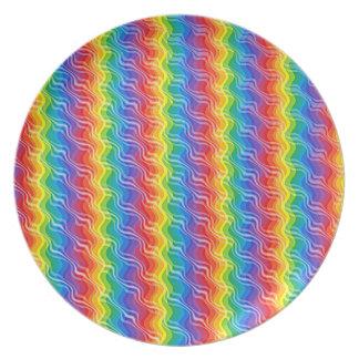 虹のさざ波のプレート プレート