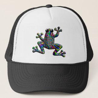 虹のしぶきのカエル キャップ