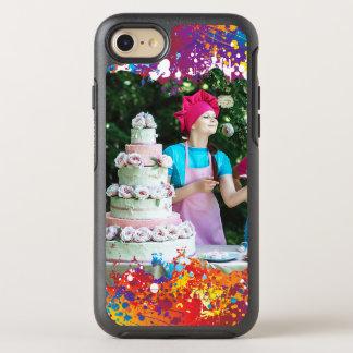 虹のしぶきの抽象芸術 オッターボックスシンメトリーiPhone 8/7 ケース