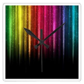 虹のつららの柱時計 スクエア壁時計