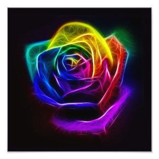 虹のばら色のフラクタル フォトプリント