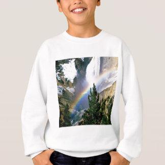 虹のより低い滝イエローストーン スウェットシャツ