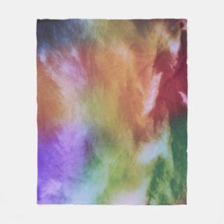 虹のろうけつ染め フリースブランケット