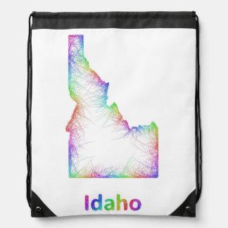 虹のアイダホの地図 ナップサック