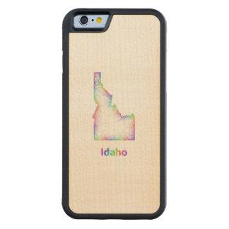 虹のアイダホの地図 CarvedメープルiPhone 6バンパーケース