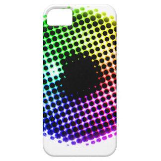 虹のアイリスユニコーンの目色スペクトルの漫画 iPhone SE/5/5s ケース