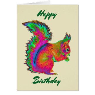 虹のアカリス。 誕生日おめでとう カード