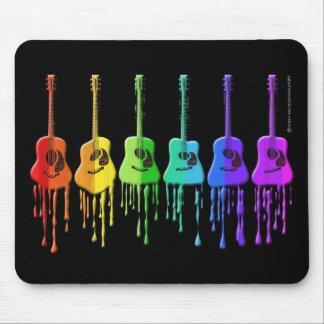 虹のアコースティックギター マウスパッド