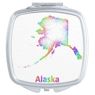 虹のアラスカの地図