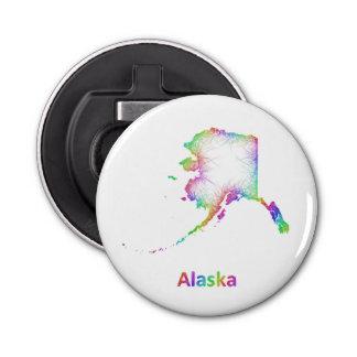 虹のアラスカの地図 栓抜き