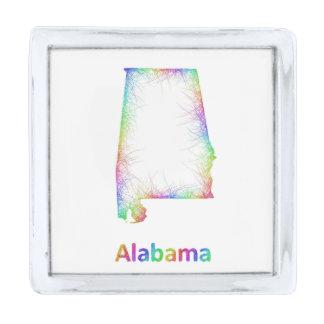 虹のアラバマの地図 シルバー ラペルピン