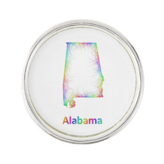 虹のアラバマの地図 ラペルピンブローチ