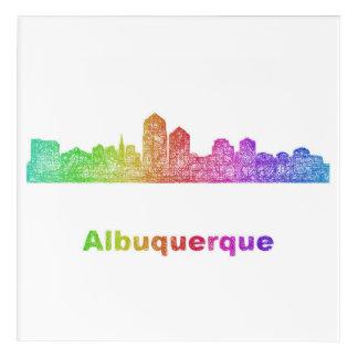 虹のアルバカーキのスカイライン アクリルウォールアート