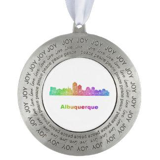 虹のアルバカーキのスカイライン オーナメント