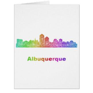 虹のアルバカーキのスカイライン カード