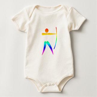 虹のアーチェリー ベビーボディスーツ
