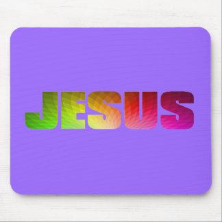 虹のイエス・キリストのマウスパッド マウスパッド