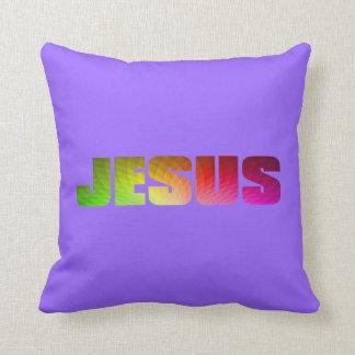 虹のイエス・キリストの枕。 クッション