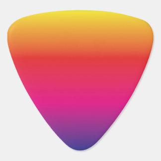虹のイメージのテンプレート ギターピック