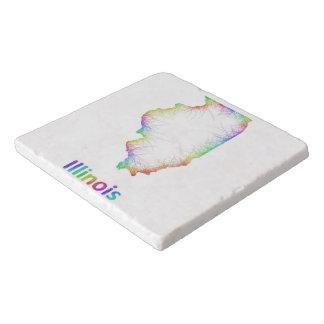 虹のイリノイの地図 トリベット