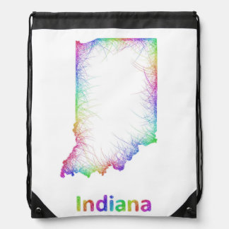 虹のインディアナの地図 ナップサック