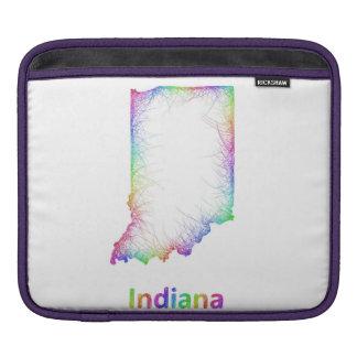 虹のインディアナの地図 iPadスリーブ