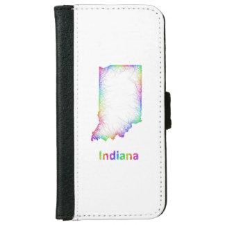 虹のインディアナの地図 iPhone 6/6S ウォレットケース