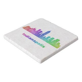 虹のインディアナポリスのスカイライン トリベット