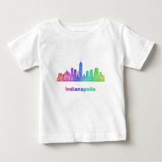 虹のインディアナポリスのスカイライン ベビーTシャツ