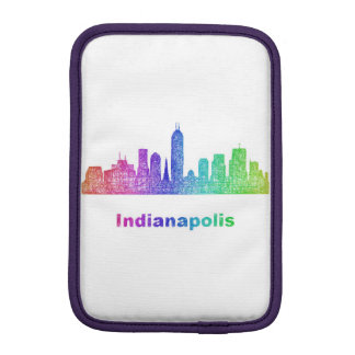 虹のインディアナポリスのスカイライン iPad MINIスリーブ