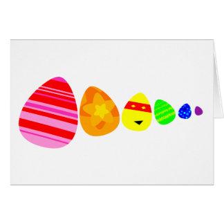 虹のイースターエッグ カード