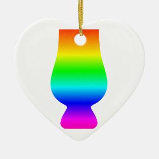 虹のウィスキーガラス セラミックオーナメント