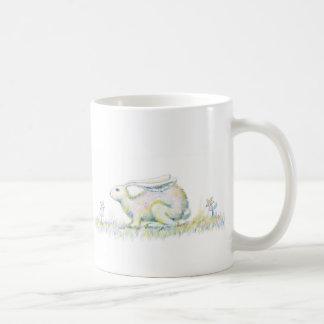 虹のウサギ コーヒーマグカップ